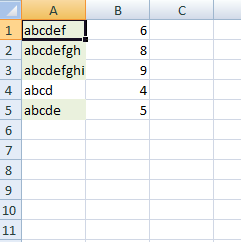 excel cells