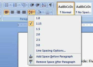 How to keep the paragraph settings as default in Microsoft Word 2007