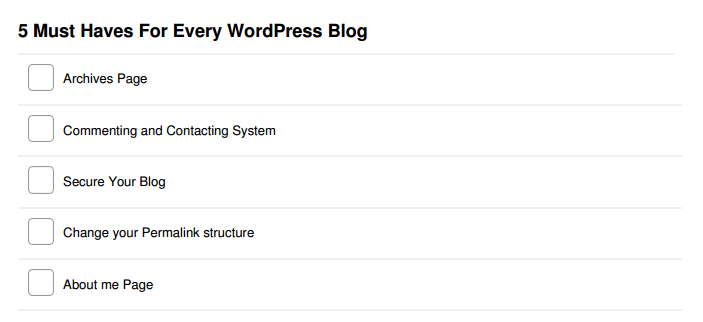 5 things must for every wordpress blog