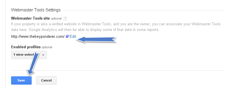 How to associate Google Analytics with Webmaster Tools
