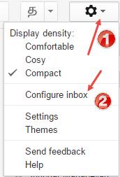 configure gmail inbox