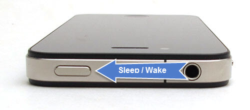 iPhone sleep wake button