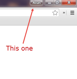 Google Chrome Titlebar profile button