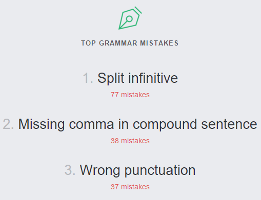 top grammar mistakes